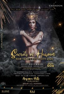 *SECRETS OF HEAVEN* GOA NEW YEAR'S EVE PARTY 2020