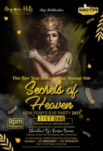 *SECRETS OF HEAVEN* GOA NEW YEAR'S EVE PARTY 2021